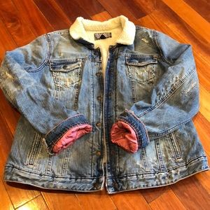 🌸Polo Ralph Lauren Lined Distressed Jean Jacket